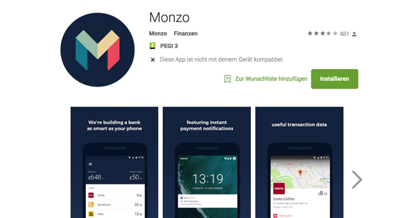 Monzo Android